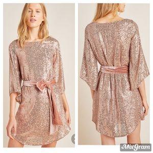 New Anthropologie sequin mini dress